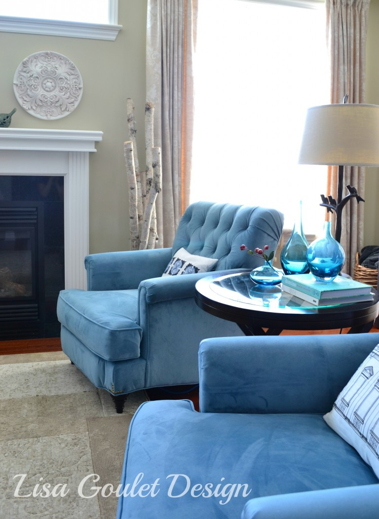 Modern classic family room update