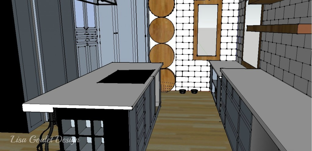 Log cottage design with sketchup