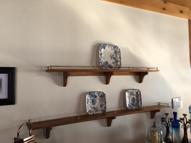 Before - plate wall with plate rails