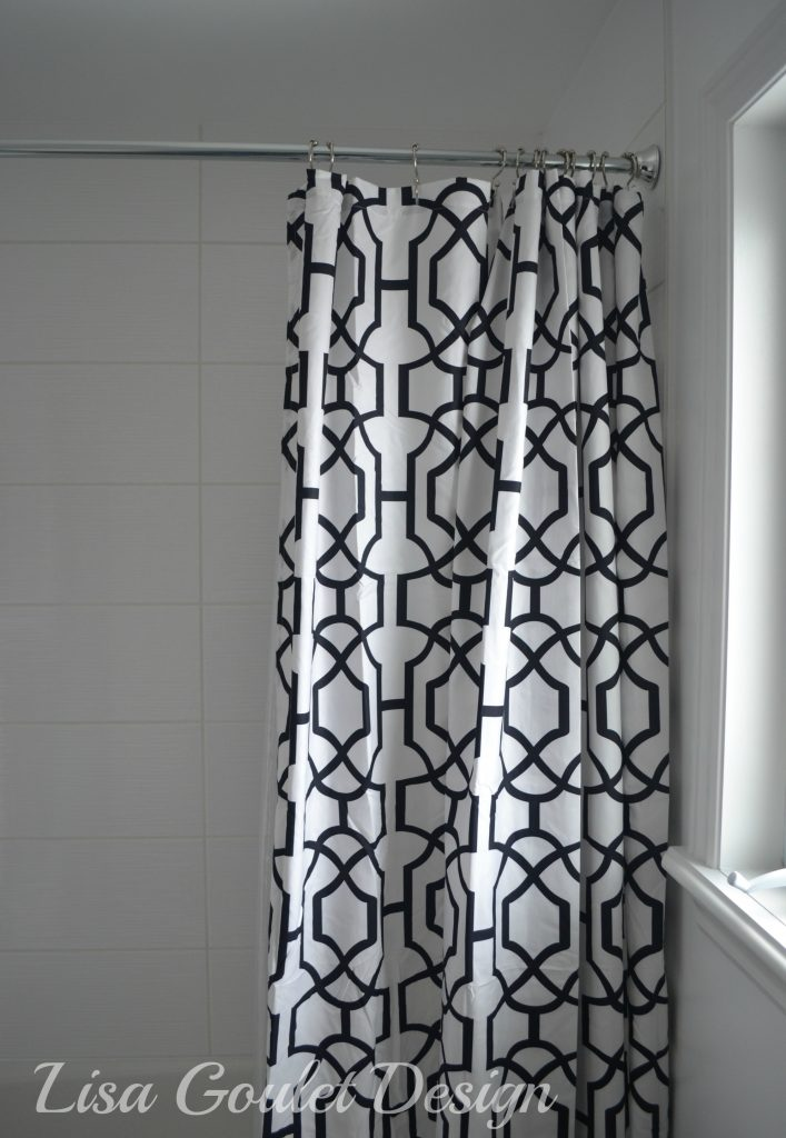 shower tile, curtain