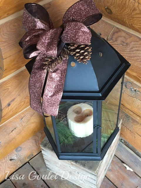 Exterior christmas lantern