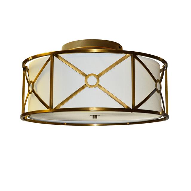 Dainolite vintage brass flush mount
