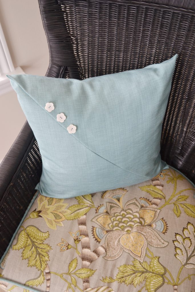 Wicker chair cushion makeover