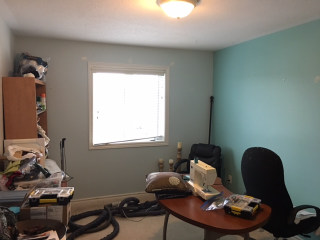 One Room Challenge - Sewing/craft room before