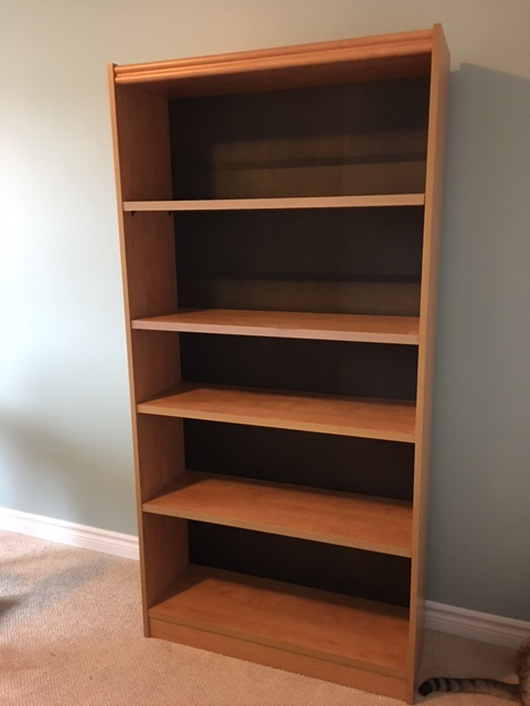 Before: bookcase