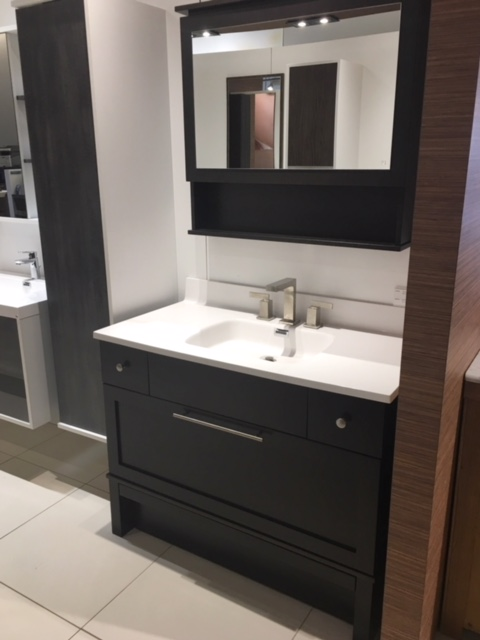 Bathroom storage vanity & mirror