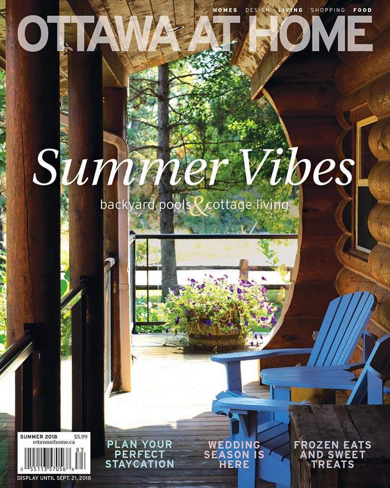 Published and made the cover of Ottawa at Home magazine Summer 2018