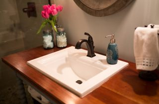 Designing a modern cottage bath on a budget