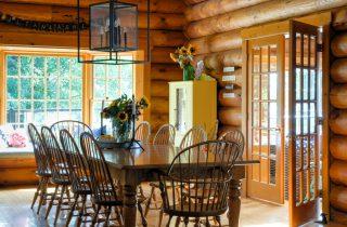 Log home dining room update
