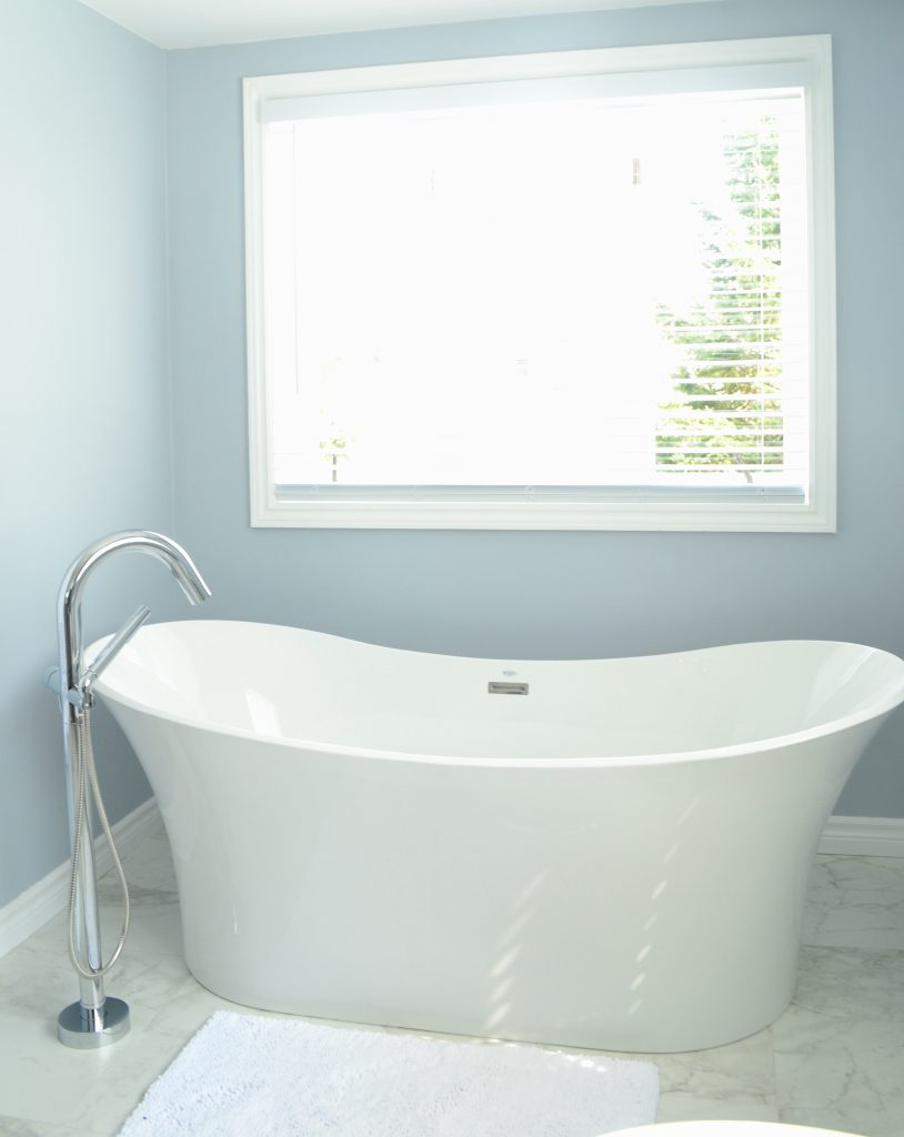 Serene master bath - freestanding tub