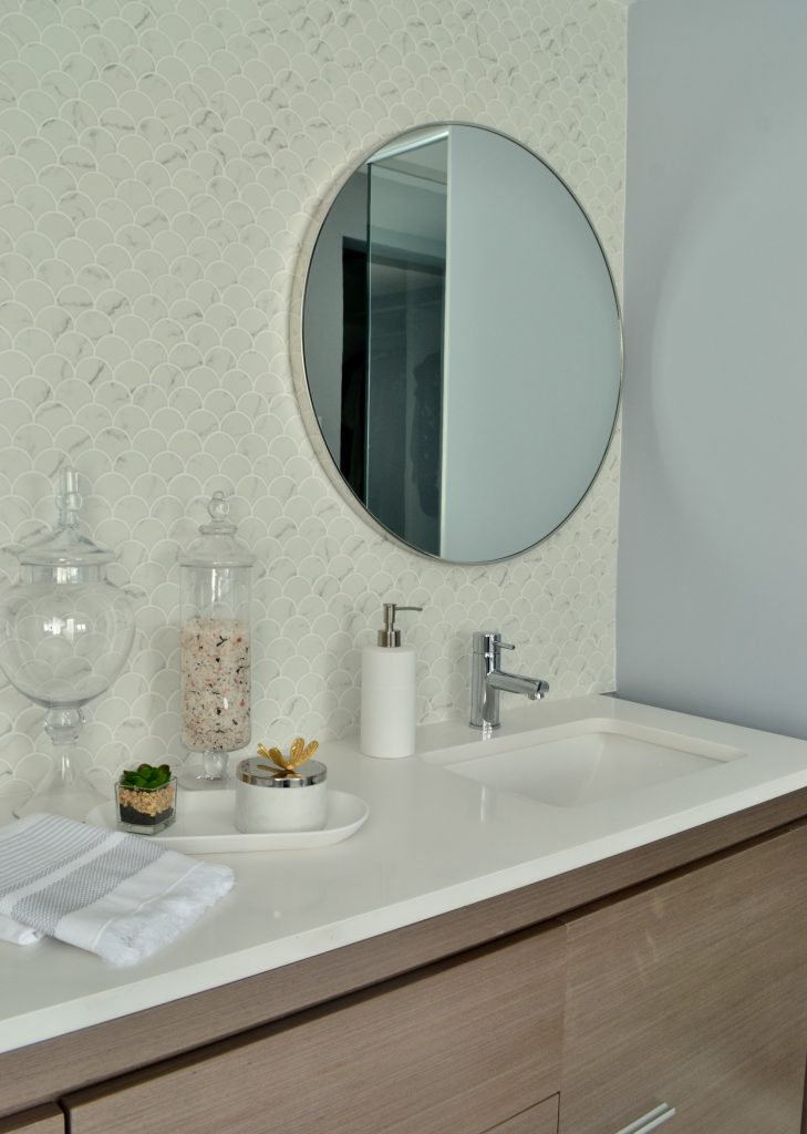Serene master bath - vanity