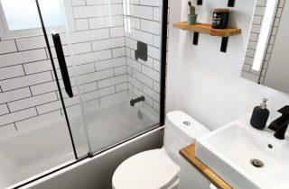 Modern and masculine bath