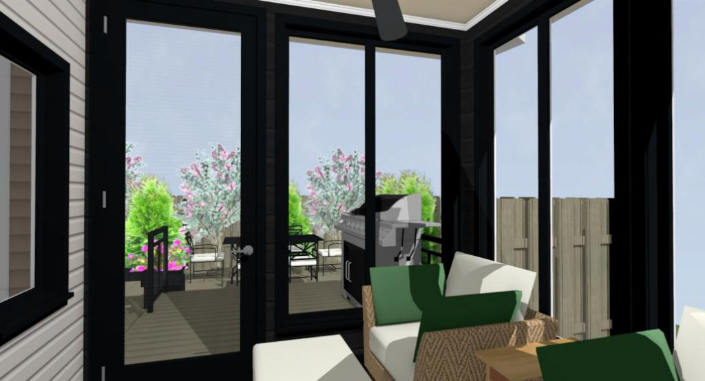 Three season sunroom rendering