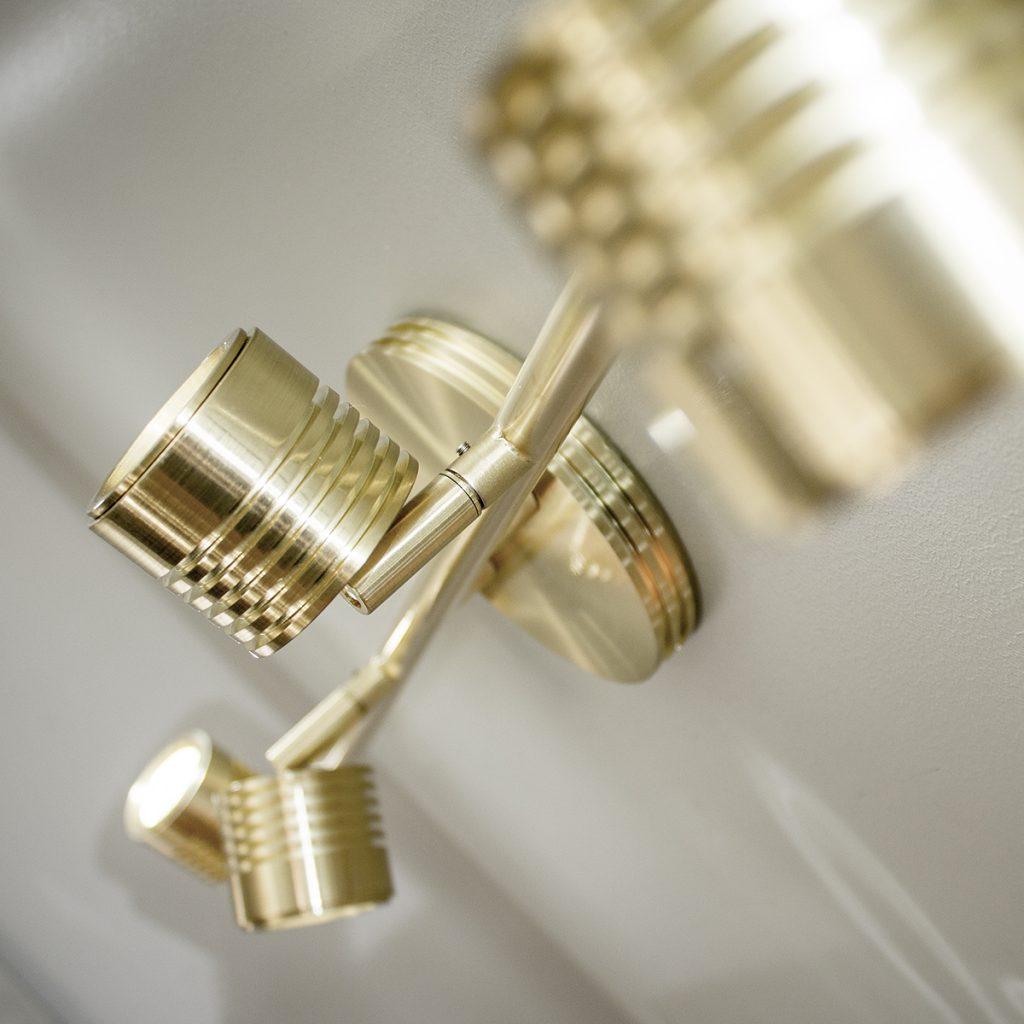 Brass LED track lighting